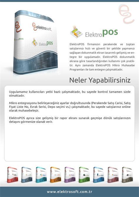34295-Retail and Wholesale Application Electro POS-Elektrosoft Bilisim Sistem Yazilim ve Otomasyon San. Tic. Ltd. Sti.