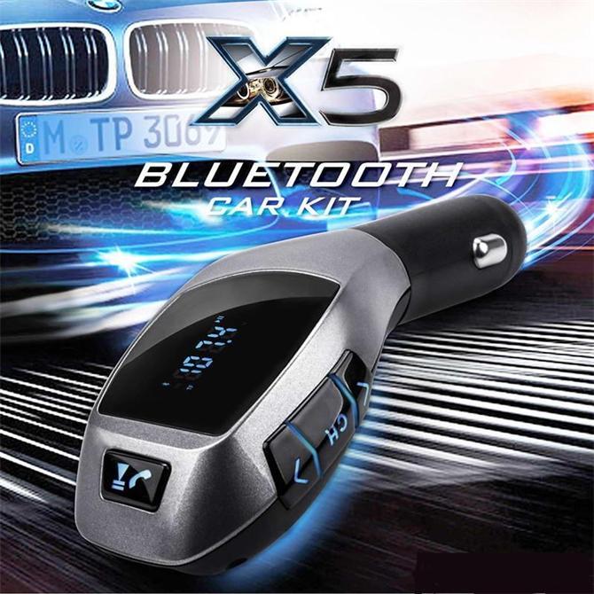 203094-KingShark X5 Bluetooth Araç Kiti Fm Transmitter-Toprak Elektronik Imalat ve Ticaret Ltd. Sti.