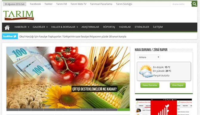 219886-Agricultural News and Information Portal - Page 1-Tabit Akilli Tarim Teknolojileri A.S.