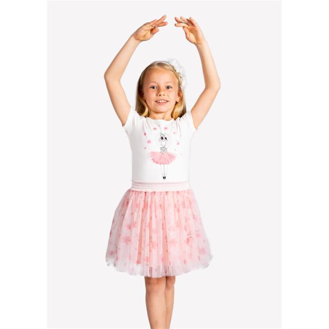 245136-Floral Printed Girl's Tutu Skirt-Ozmoz Tekstil San. Ltd. Sti.